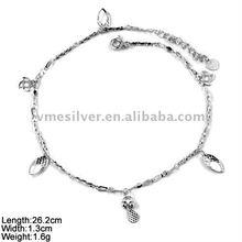 [JL-24] 925 Silver Anklet, Plain Silver Anklet