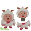Fashion cartoon sheep 3D silicone USB flash driver case
