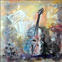 violin art painting handpainted from xiamen factory