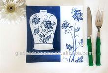Decoração de casa e utensílios de cozinha de vidro vegetal placas