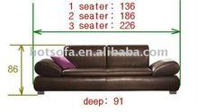italian leather modern sofa H421