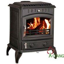 cast iron stove wood fireplace