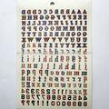 lettera di tatuaggi temporanei