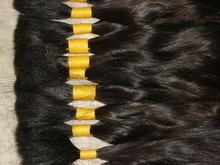 5A grade can be dyed to dark color 100% brazilian human hair extension