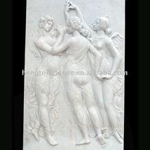 White Marble Embossment Figure