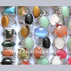 2012 Fashion big gemstone silver alloy jewelry ring