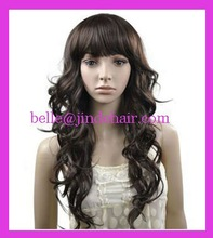 "discount 24"" spring curl heat resistant synthetic party wig wholesale"