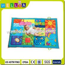 Soft cotton fabric baby playing mat