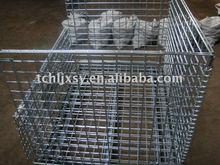 Zinc Folding Wire Mesh Pallets with half drop gate