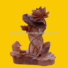 Red Marble Animal Statue of Fish Sculpture