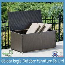 outdoor cushion case , PE rattan storage box , outdoor furniure