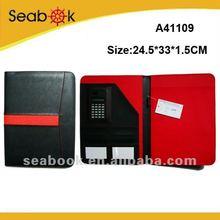 Cool pu leather portfolio with calculator