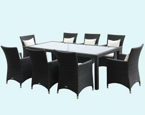 mesa de jantar jardim guanabara:Jardim moldura de alumínio mesa de jantar e cadeira móveis de vime