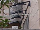 150*120cm door canopy, black brackets and clear board window awing, sun shetler for door
