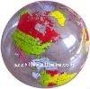 2015 inflatable world map beach ball, inflatable earth globe beach ball