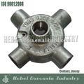 Caja del conducto eléctrico del hierro maleable de los materiales de la plomería