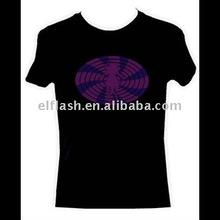 popular flashing el promotion t-shirts