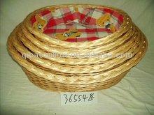 golden yellow fancy pet willow basket