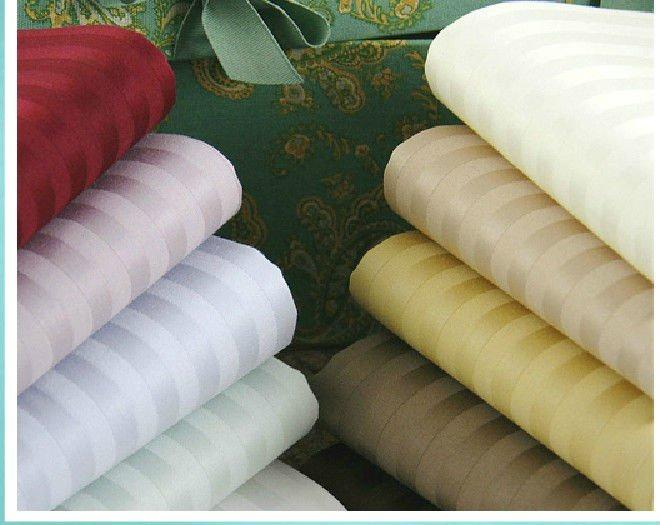 hotel bedding set fabric,1cm satin stripe fabric
