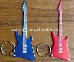 metal printing guitar key chains/music gifts