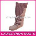 2013 de la nieve de altura de arranque alta calidad de punto de invierno botas de botas para la