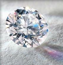 hot sale sparkle white colorless round korean machine cut cubic zirconia