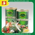 Légume mélangé en boîte avec toutes sortes de légume
