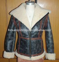 2012 100% GUARANTEED LADIES REAL SHEARING JACKET,Shearing Lamb Double-Face Fur COAT,Toscana skins shearing coat