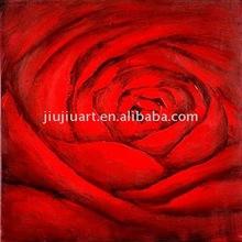 handmade oil painting ren rose flower oil painting