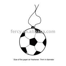 Football Shape Car Paper Freshener