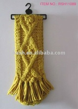 knit scarf with fringe (RSH11089)