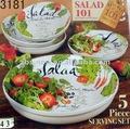 5 PCs ont placé la vaisselle en céramique de salade