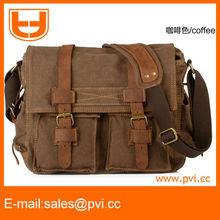 Men's Vintage Canvas Leather School Military Shoulder Bag messenger Bag