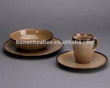 Green stoneware dinnerware set dinner ware