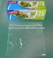 transparente con cremallera bolsa de sandwich