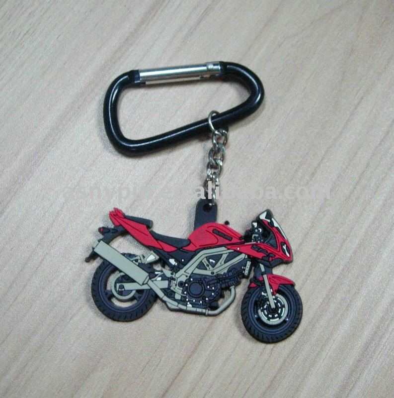 3d motorcycle shaped soft pvc gift