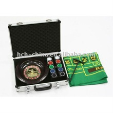 Come With Aluminum Case 10 Inch Dia Roulette Wheel Game Set