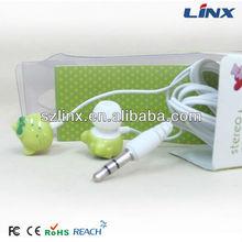 3.5mm plug animal earphone cover/earphone in ear