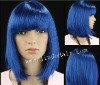 2012 New arrived heat resistant blue Halloween wig