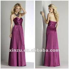 Elegant 2012 Hot Selling Fuchsia Ruffle Patterns For Bridesmaid Dress