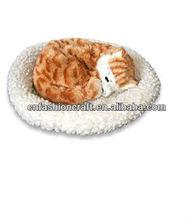 NW2325 Fashion simulation animal toy breathing cat sleeping cat