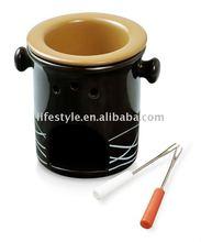 Chocolate Fondue Set, Ceramic Fondue Set