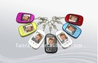 """HOT Selling! Fashionable 1.5"""" metal digital photo frame keychain, best lead time, best price"""