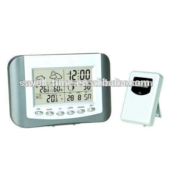 inalámbrico digital termómetro y un higrómetro reloj