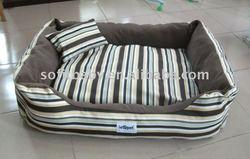 Big luxury warm soft pet dog bed round unique large pet cushion