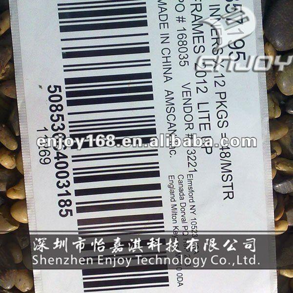 Número de série e rótulos para embalagem código de barras de produtos de código de barras etiqueta de código de barras serial rótulo