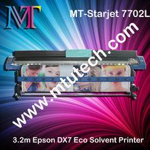 DX7 7702L, 3.2 m Eco solvent digital printer MT-Starjet,1440 dpi, BIG BANG TO MARKET