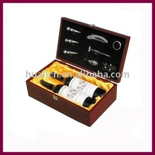 wooden grape wine two bottle packaging box