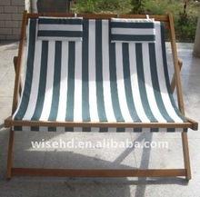 (W-L-W4) wooden double beach chair