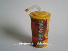 3d lenticular plastic straw cup